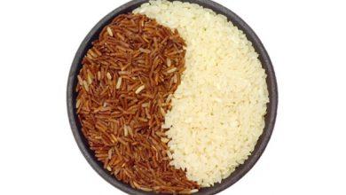 تفاوت برنج سفید و قهوه ای